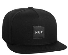 HUF Box Logo Snapback, Black