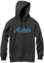 Andale Fresh Script Hoodie, Charcoal Heather