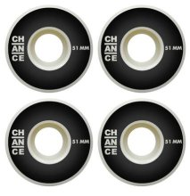 Chance Skateboards Logo Wheels 51mm, Black White