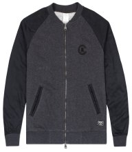 Crooks & Castles Bandit Baseball Jacket, Charcoal