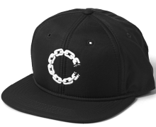 Crooks & Castles Chain C Snapback, Black