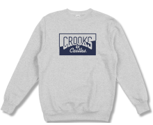 Crooks & Castles Chopper Crew, Heather Grey
