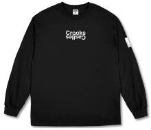 Crooks & Castles Covert Track LS Tee,  Black