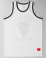 Crooks & Castles Cryptic Medusa Jersey, White