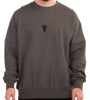 Crooks & Castles Cryptic Medusa Dolman Crew, Charcoal