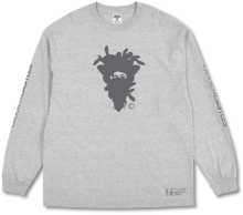 Crooks & Castles Cryptic Medusa LS Tee, Heather Grey