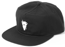 Crooks & Castles Cryptic Medusa Snapback, Black