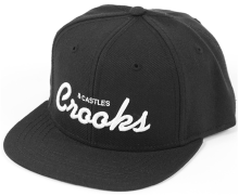 Crooks & Castles Team Crooks Snapback, Black