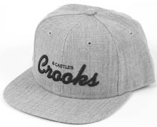 Crooks & Castles Team Crooks Snapback, Speckle Grey