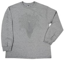 Crooks & Castles Ghostin LS Tee, Heather Grey