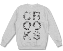 Crooks & Castles Illusions Crew, Heather Grey