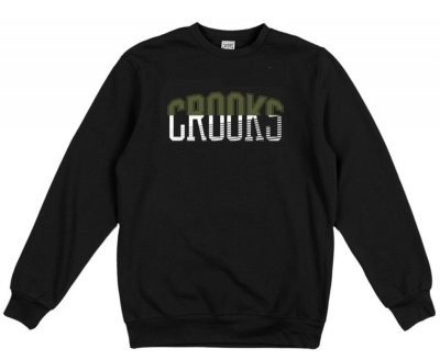 Crooks & Castles Mashup Crew, Black