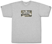 Crooks & Castles Nomad Core Logo Tee, Heather Grey