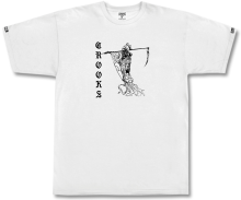 Crooks & Castles Reaper Tee, White