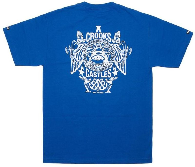 Crooks & Castles Secret Society Tee, Royal Blue | SK8