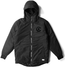 Crooks & Castles Sideline Anorak Jacket, Black