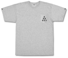 Crooks & Castles Stacked Pocket Tee, Heather Grey