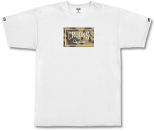 Crooks & Castles Storm Camo Core Tee, White