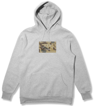 Crooks & Castles Storm Camo Hoodie, Heather Grey