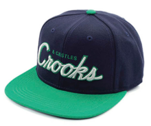 Crooks & Castles Team Crooks Snapback Hat, Navy