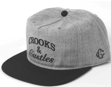 Crooks & Castles Timeless Snapback, Speckle Grey Black