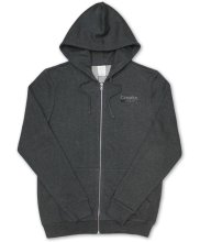 Crooks & Castles Mirror Zip Hoodie, Heather Charcoal