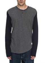 DC Shoes Basic Long Sleeve Shirt, Charcoal Heather