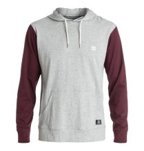DC Shoes Heroland LS Hooded Tee, Heather Grey