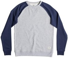 DC Shoes Rebel Raglan Crew, Grey Heather Blue