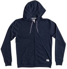 DC Shoes Rebel Zip Hoodie, Dark Indigo