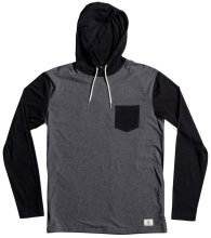 DC Shoes Rellin LS Hooded Tee, Heather
