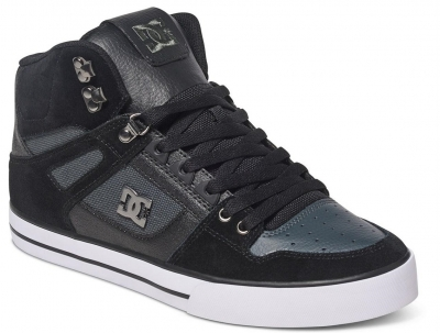 DC Shoes Spartan High WC Shoe, Black Dark Grey