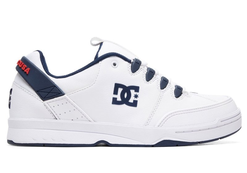 DC Shoes Syntax Shoe, White Navy   SK8