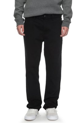 DC Shoes Worker Straight Fit Chino, Black