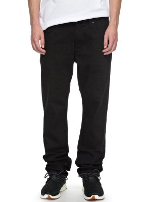 DC Shoes Worker Straight Relaxed Fit Jeans, Black Rinse