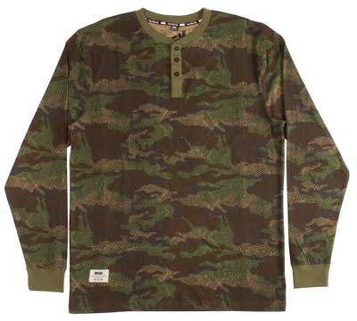 DGK Cold Blooded Henley, Woodland Camo