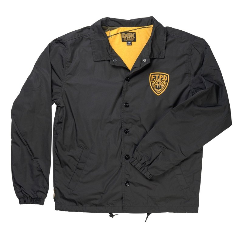 DGK FTPD Coaches Jacket, Black | SK8 Clothing Canada