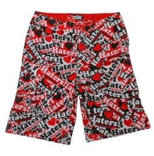 DGK Haters Collage Boardshorts, Red