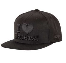 DGK Haters Snapback Hat, Black Out