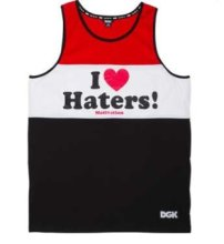DGK Haters Tank, Black White Red