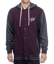 DGK Leisure Jacket, Burgundy Heather
