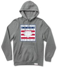 Diamond Supply Made In The USA Hoodie, Gunmetal