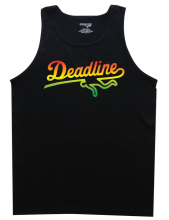 Deadline Gradient Rasta Tank, Black