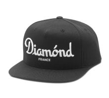 Diamond Supply Champagne Snapback Hat, Black