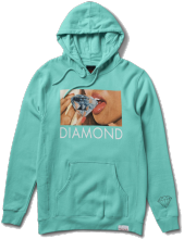 Diamond Supply Lips Hoodie, Diamond Blue