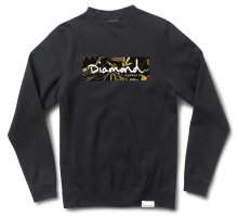 Diamond Supply Co Low Life Box Crew, Black