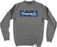 Diamond Supply Low Life Box Logo Crew, Gunmetal