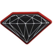 Diamond Supply Brilliant Magnet, Black Red
