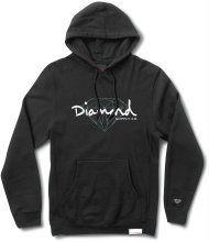 Diamond Supply Co Brilliant Script Hoodie, Black