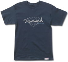 Diamond Supply Co Brilliant Script Tee, Navy